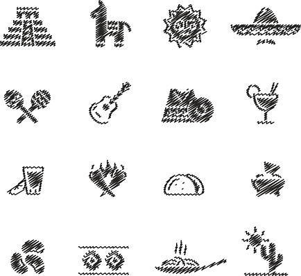 Mexican Food & Culture // Scribble series