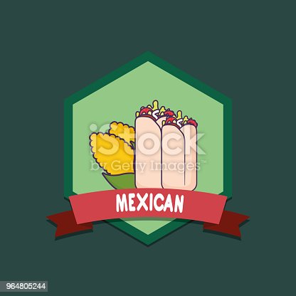 Mexican Food Design Stock Vector Art & More Images of Burrito 964805244