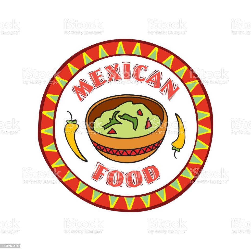 Mexikanisches Essensymbol Traditionelle Küche Mexikos Fast Food Café ...