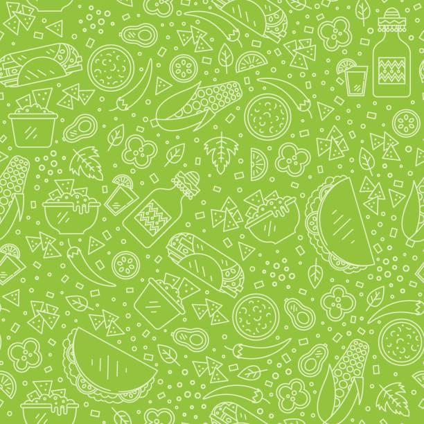 Modèle de cuisine mexicaine - Illustration vectorielle