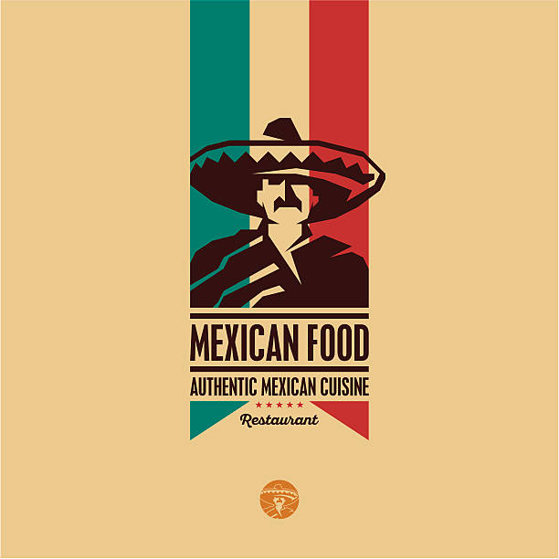 Cuisine mexicaine logo du restaurant - Illustration vectorielle