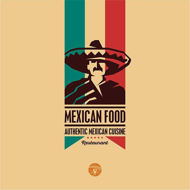mexican food restaurant logo - mexican food stock illustrations, clip art, cartoons, & icons