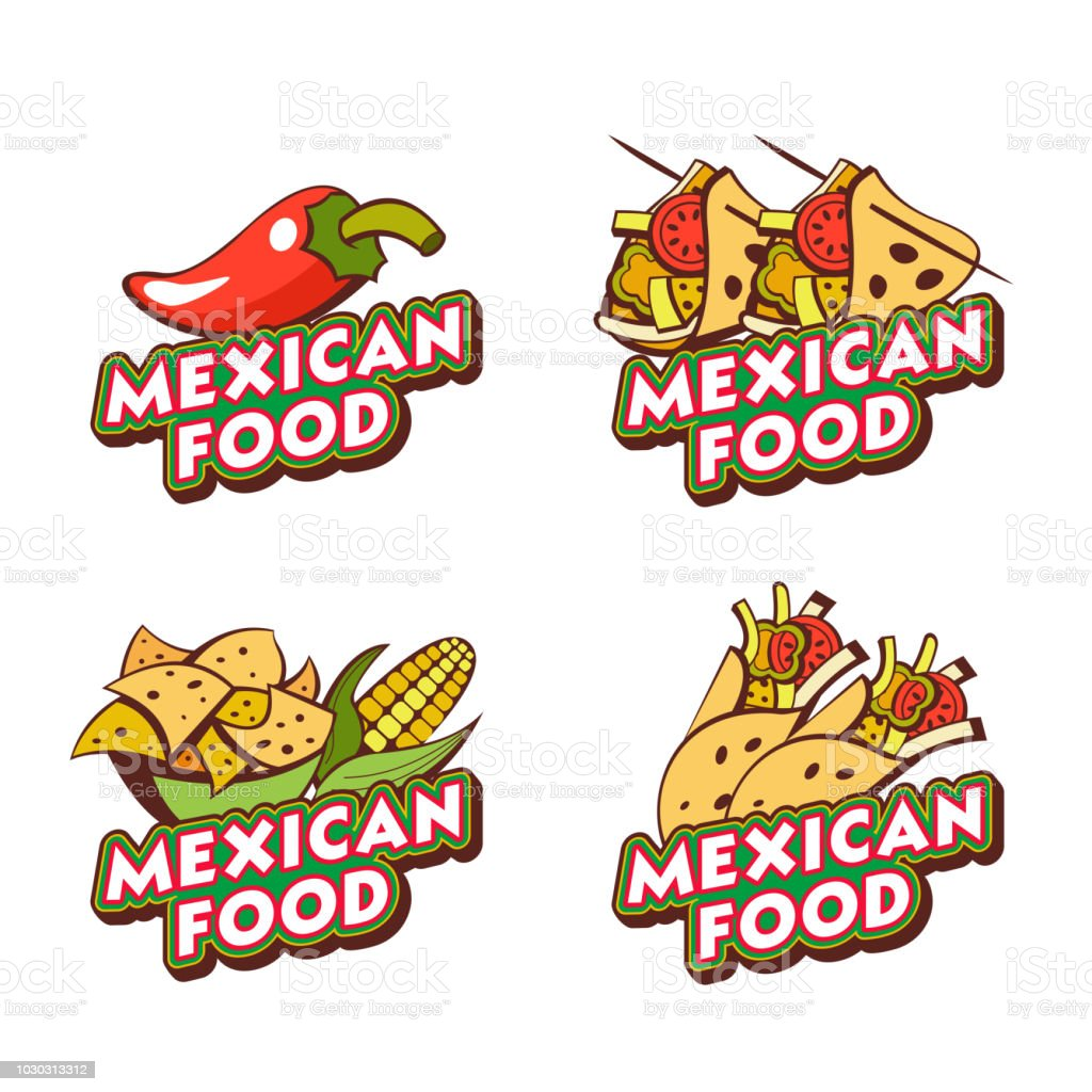 mexican food the emblem the logo of mexican cuisine vector rh istockphoto com mexican food logansport in mexican food loganville ga