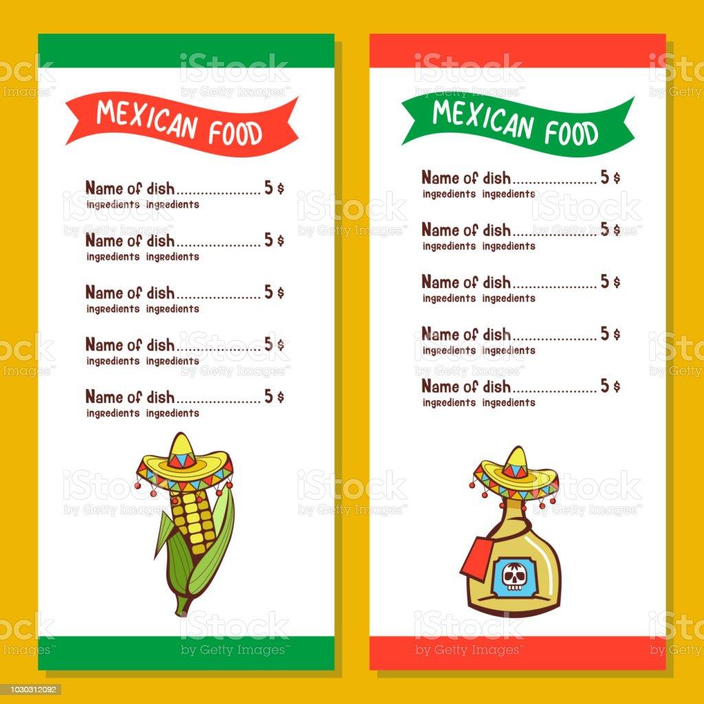 Ilustracion De Comida Mexicana El Diseno Del Menu Del Restaurante Mexicano Ilustracion De Vector Y Mas Vectores Libres De Derechos De Alimento Istock