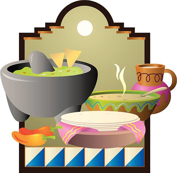 mexikanische speisen - tortillas stock-grafiken, -clipart, -cartoons und -symbole