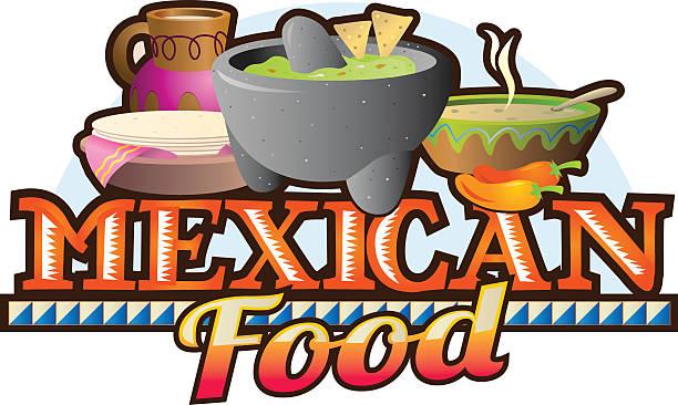 Cuisine mexicaine plats - Illustration vectorielle