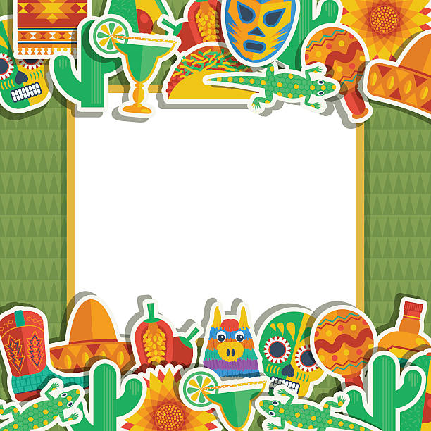 Mexican Frame Stock Vector Art More Images Of Backdrop 520943999