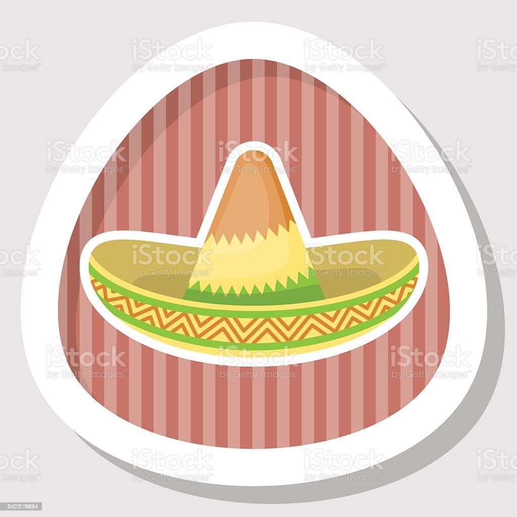 nouveau design offrir des rabais mignonne Chapeau Mexicain Icône Plate De Couleur Vecteurs libres de ...