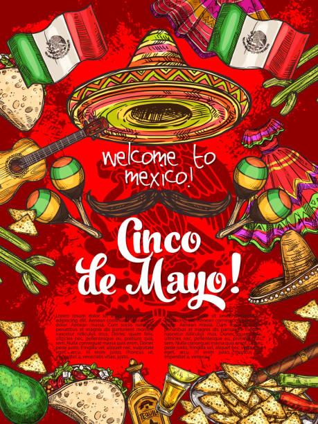 bildbanksillustrationer, clip art samt tecknat material och ikoner med mexikanska semester, cinco de mayo firandet - cactus lime