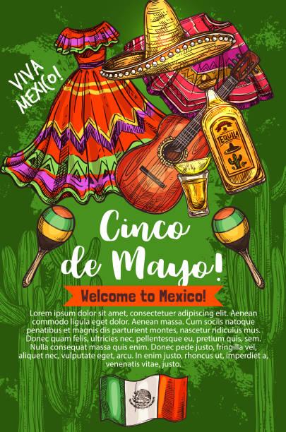 bildbanksillustrationer, clip art samt tecknat material och ikoner med mexikanska holiday, cinco de mayo, resor till mexiko - cactus lime