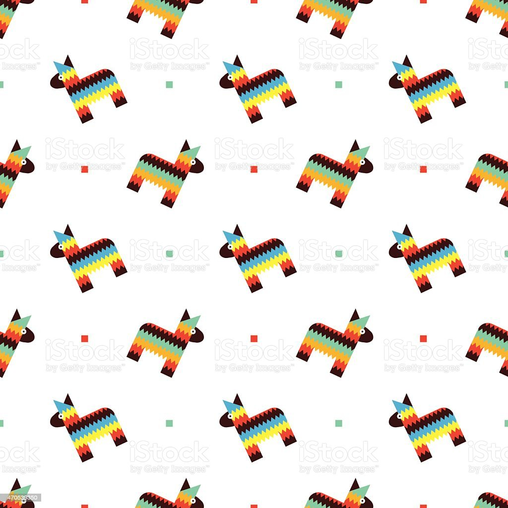 mexican horse pinata pattern stock vector art 470539350 istock