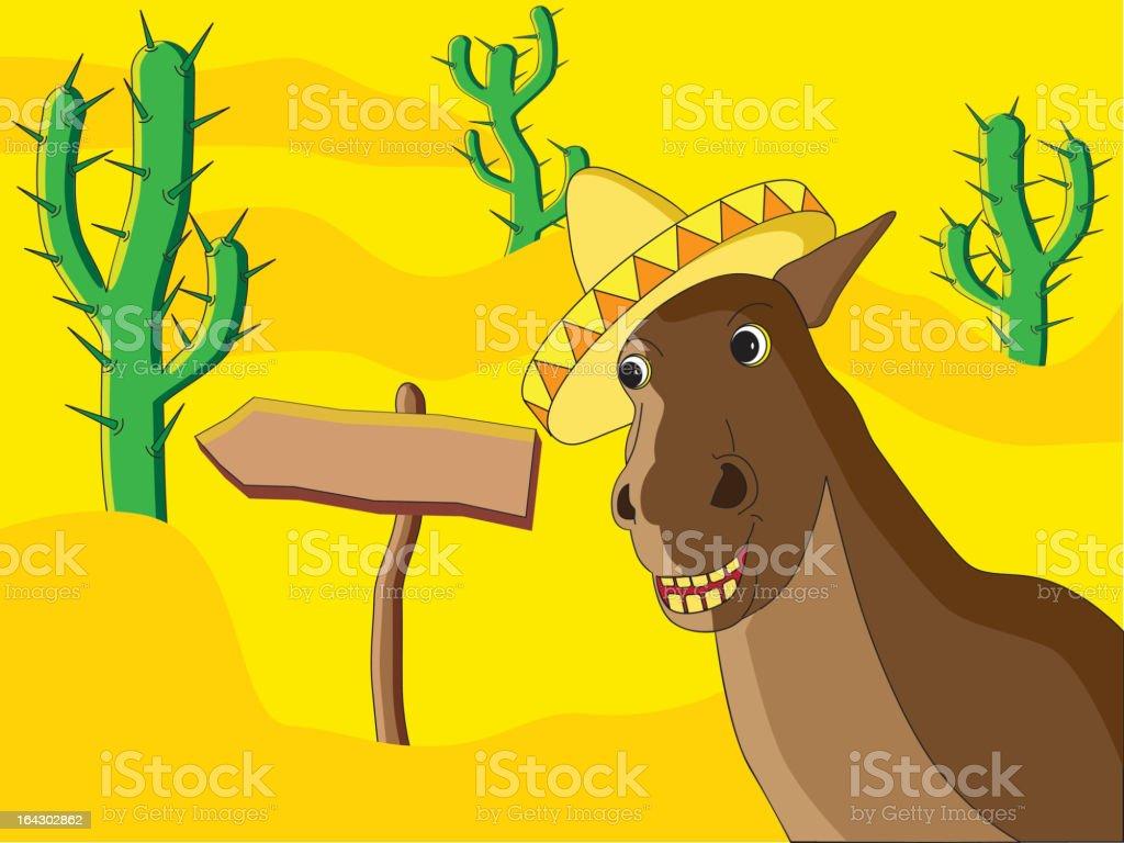 Mexican Horse royalty-free stock vector art