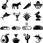 Mexico icon set. Professional vector icons for your print project or Web site. See more in this series.