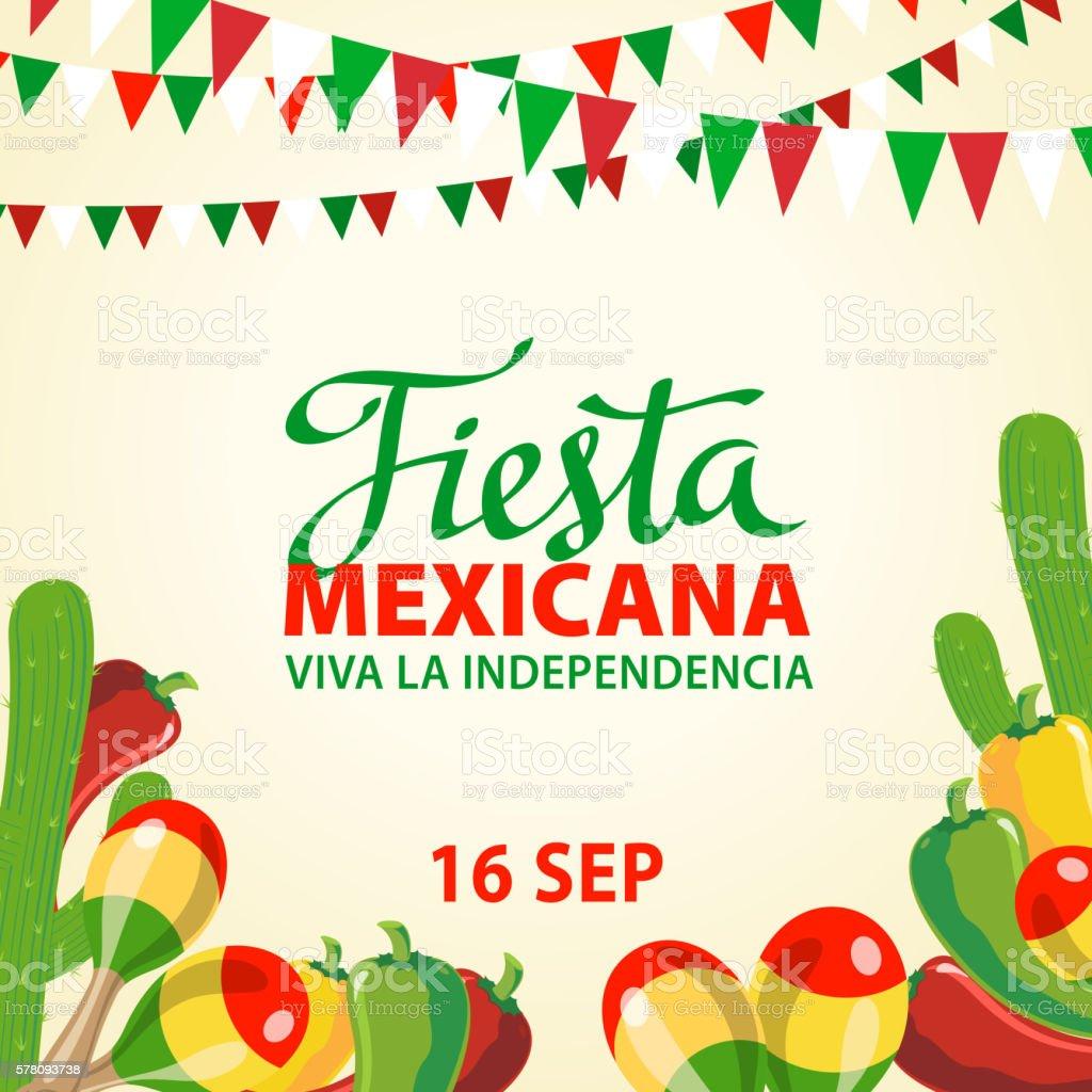 Mexican Independence Day Invitation - ilustración de arte vectorial