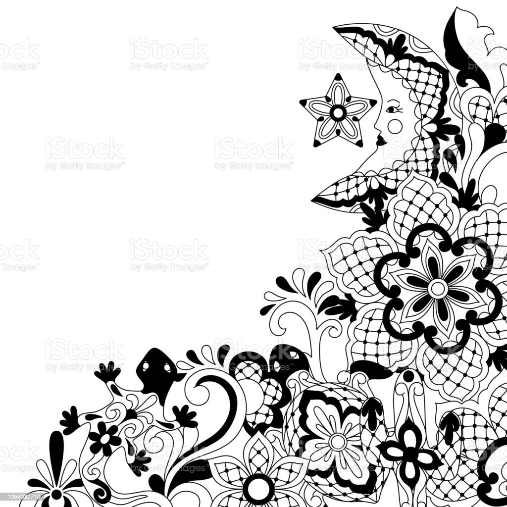 Mexican Lace Background Design Stock Illustration - Download