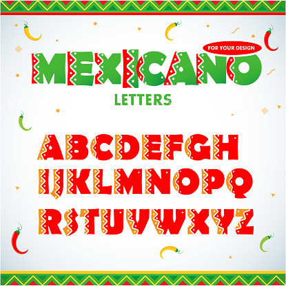 Mexican letters for for advertising.