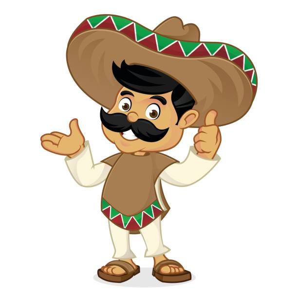 Royalty Free Funny Mexican Cartoon Characters Clip Art ...