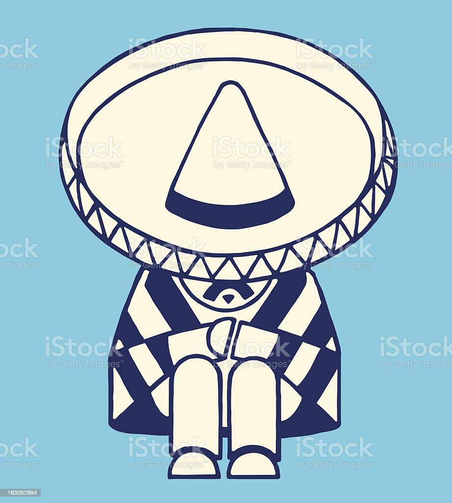 Mexican Man Taking a Nap royalty-free stock vector art