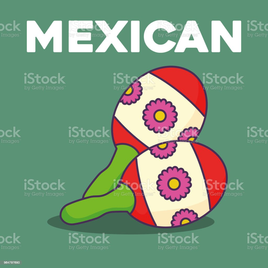 mexican maracas design royalty-free mexican maracas design stock vector art & more images of banner - sign