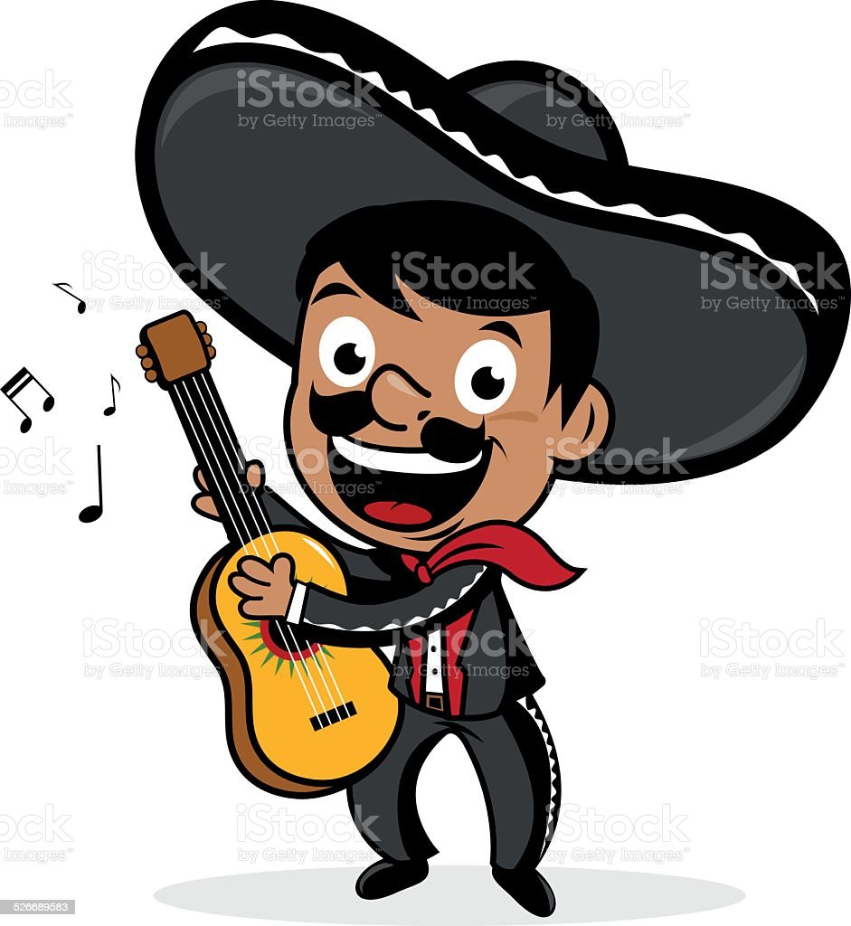 mexican mariachi man playing the guitar stock vector art mariachi man clipart mariachi clip art pdf