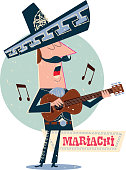 Singer of an traditional Mexican musical group or band of Mariachi - Viva Mexico!