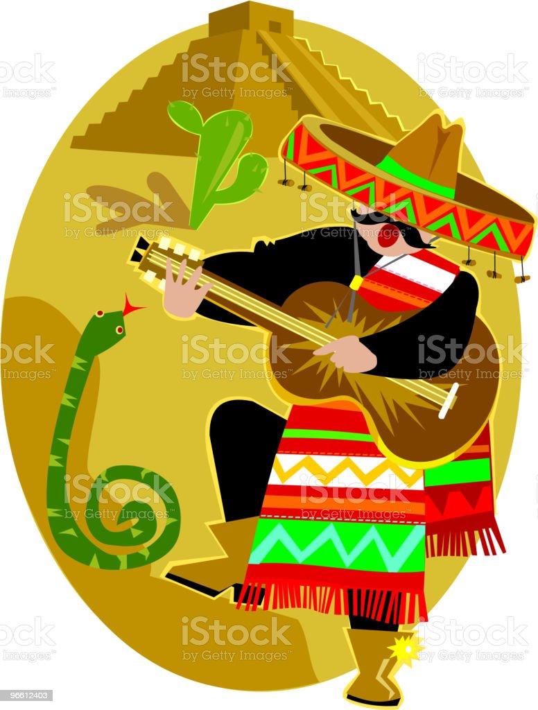 Mexican Mariachi - Royalty-free Alleen volwassenen vectorkunst
