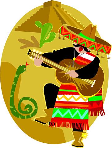 Mexican Mariachi Stockvectorkunst en meer beelden van Alleen volwassenen