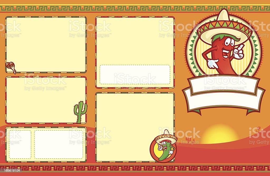 Mexican Menu Set 11x17 vector art illustration
