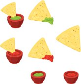 Mexican Nachos with dipping souce