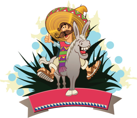 mexican on the donkey