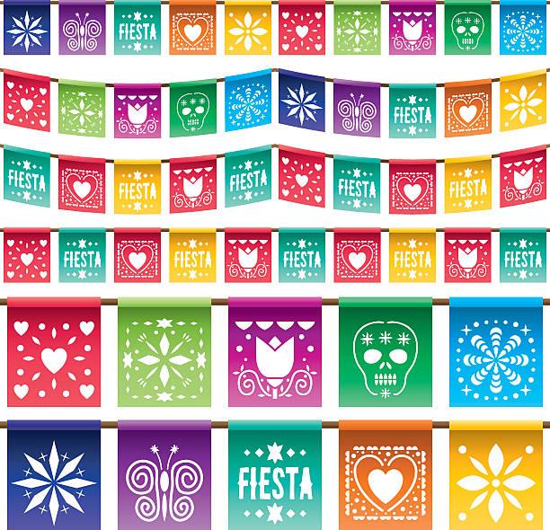 Mexikanische Papier-Kapuzenoverall – Vektorgrafik