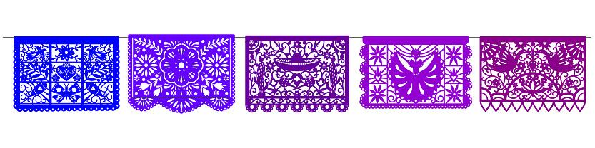 Mexican Paper Picado design
