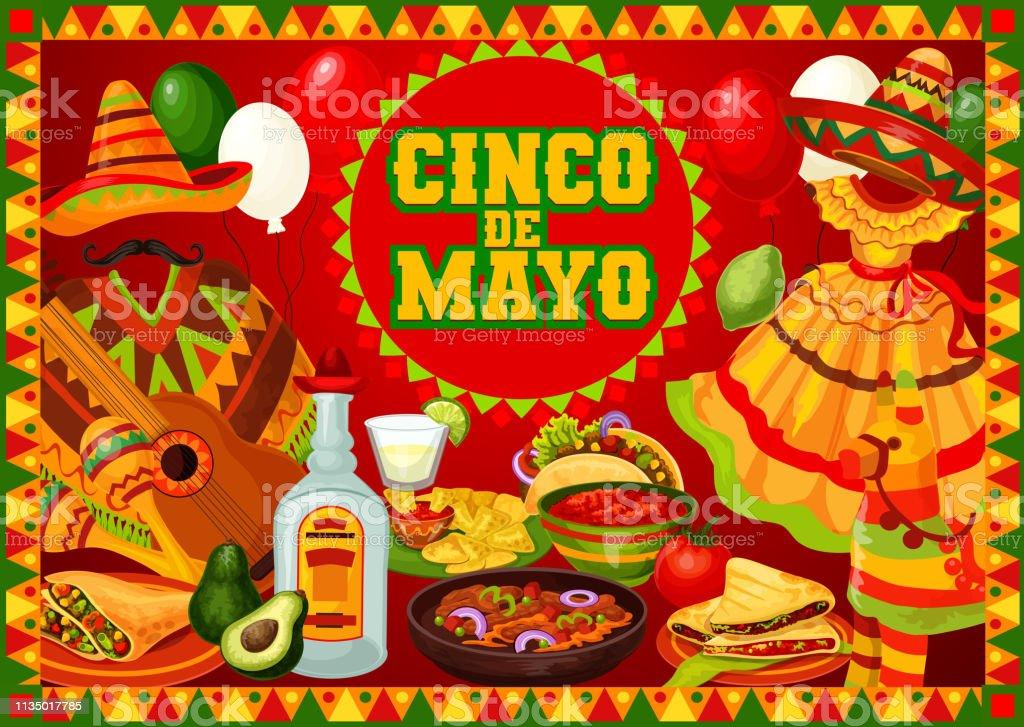 Mexican party Cinco de Mayo party celebrations vector art illustration