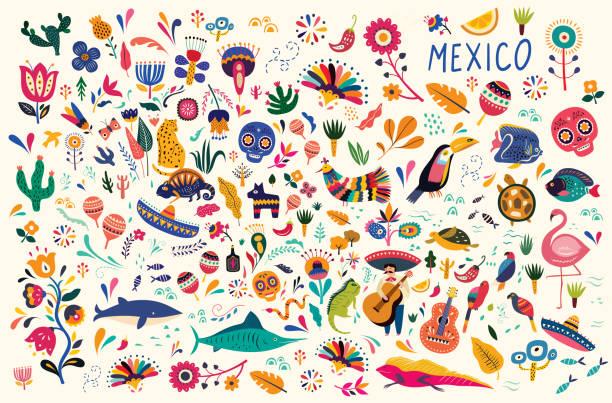 ilustraciones, imágenes clip art, dibujos animados e iconos de stock de patrón mexicano - méxico