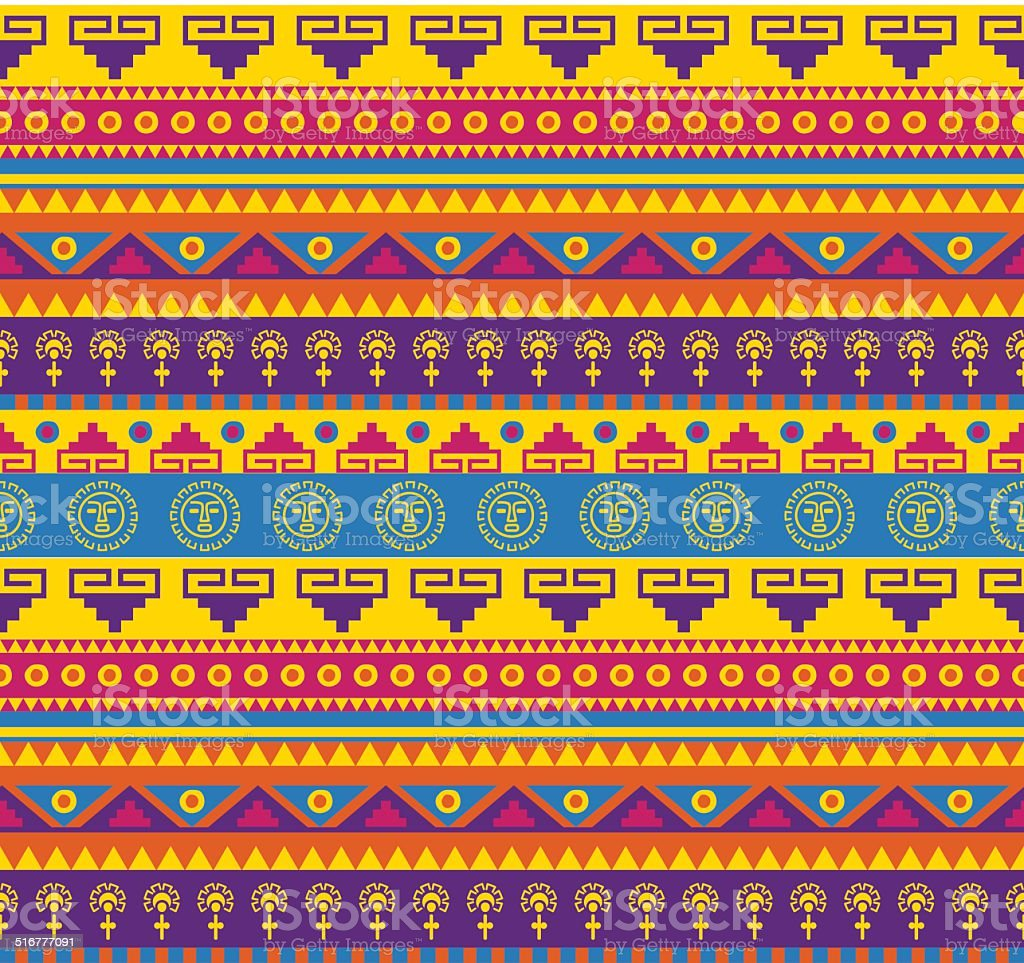 mexican pattern vector art illustration