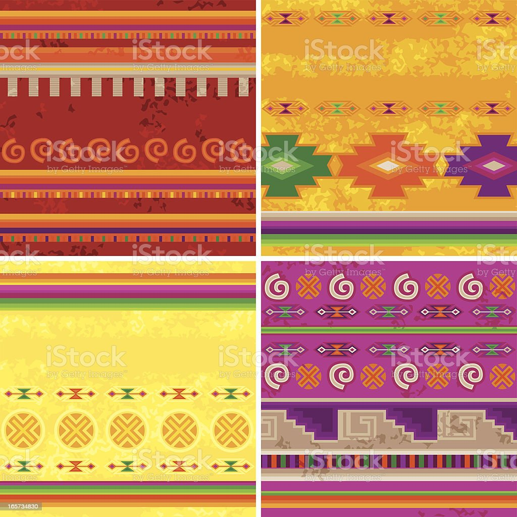 Mexican Patterns vector art illustration