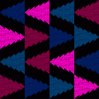 Mexican plaid. Seamless pattern. Design with manual hatching.