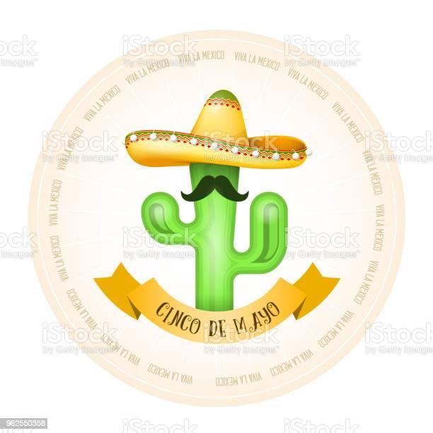 Vetores de Cartaz Mexicano Cacto Com Bigode No Sombrero e mais imagens de Bigode