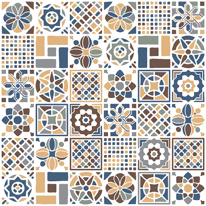 Mexican Quilt Seamless Pattern
