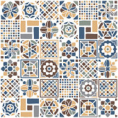 istock Mexican Quilt Seamless Pattern 1292585931