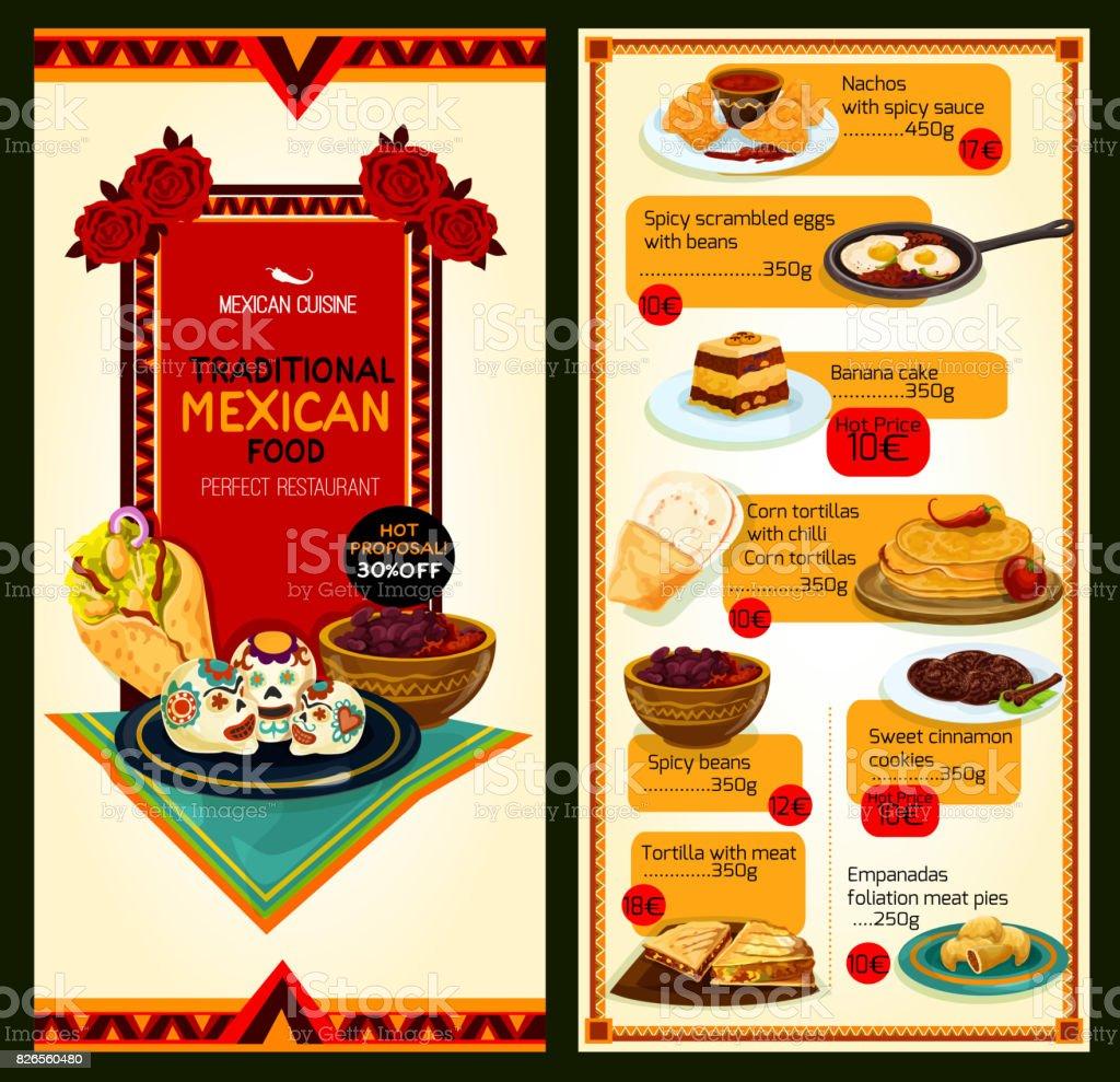 Ilustracion De Menu De Restaurante Mexicano Cocina Vector Y Mas Vectores Libres De Derechos De Alimento Istock
