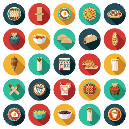 Mexican Restaurant Icon Set