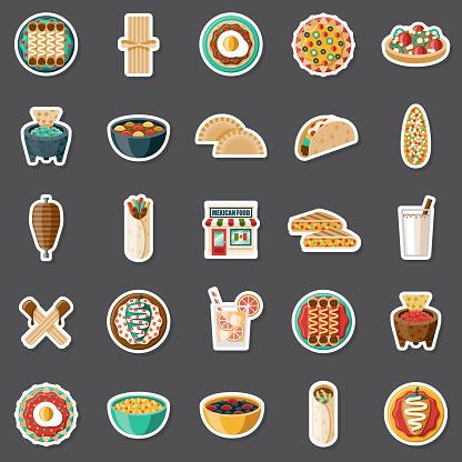 Mexican Restaurant Sticker Set