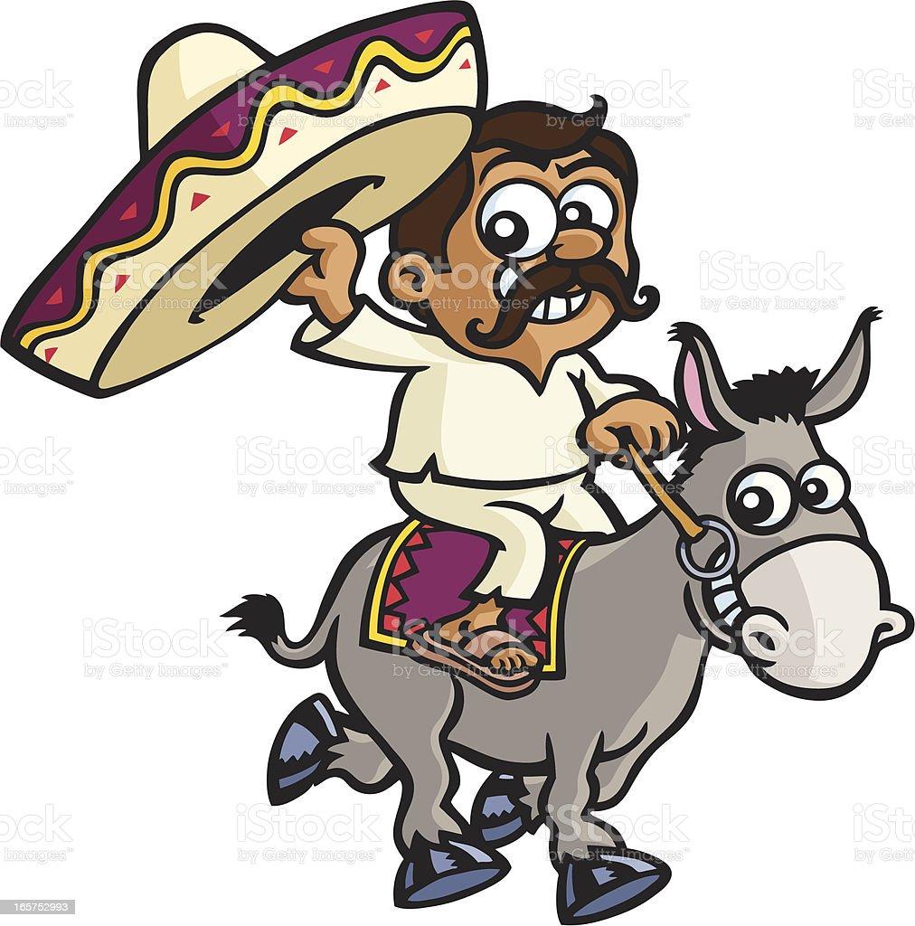 mexikanischer haariger Esel