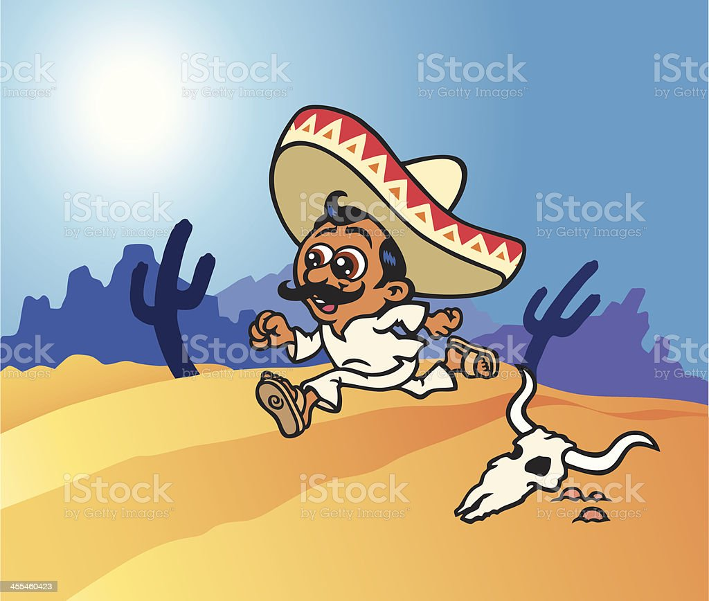 Mexican Runner royalty-free mexican runner stock vector art & more images of animal body part