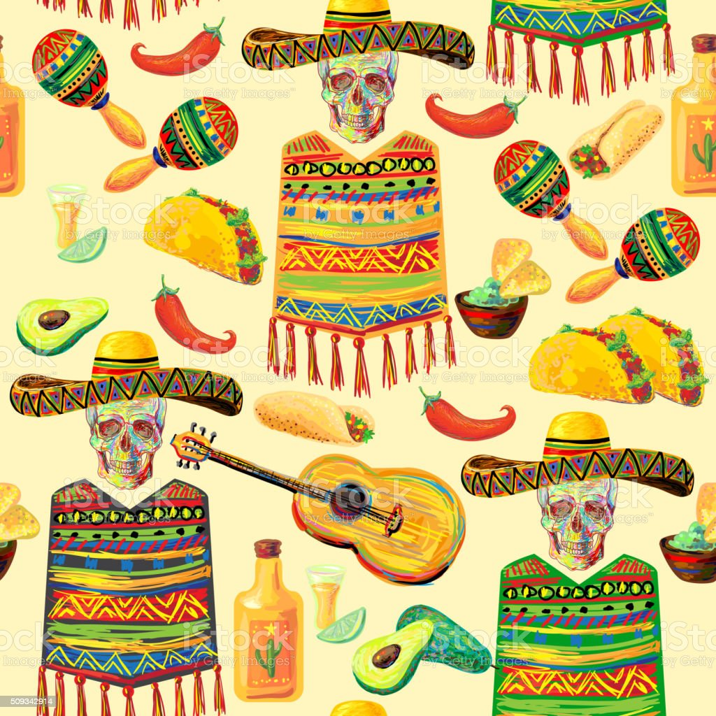 Top Wallpaper Music Food - mexican-seamless-music-pattern-vector-id509342914  Snapshot_151356.com/vectors/mexican-seamless-music-pattern-vector-id509342914