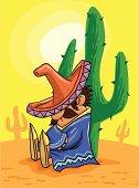 mexican siesta in the desert