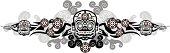 mexican skulls mask decoration
