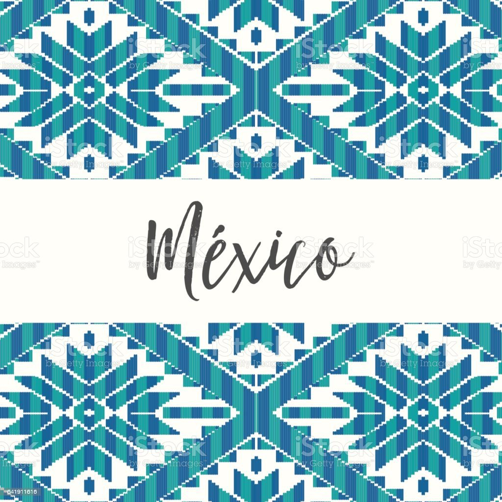 Ilustración de Composición Del Patrón De Estilo Mexicano y más banco ...