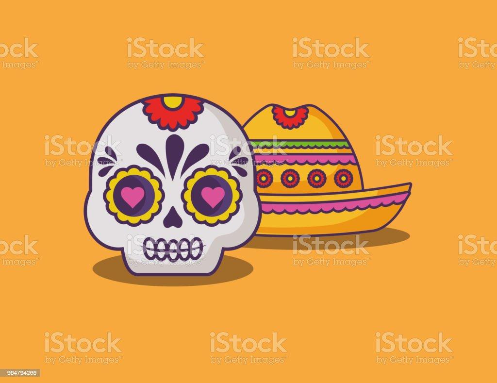 Mexican sugar skull design royalty-free mexican sugar skull design stock vector art & more images of art